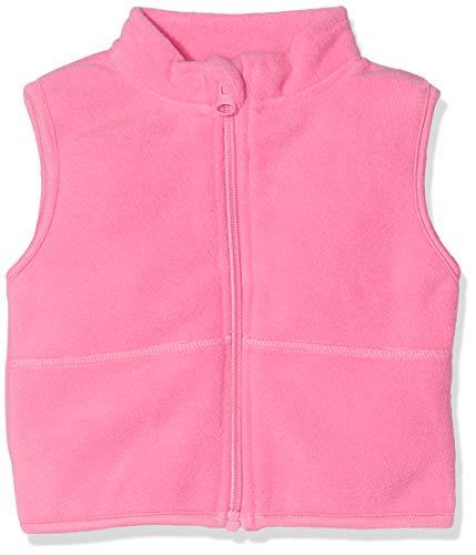 Schnizler Unisex Baby Weste, Fleeceweste, Rosa (Pink 18), 68