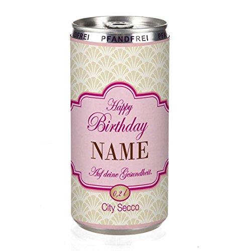 Herz & Heim® City Secco in der Dose zum Geburtstag mit Wunschname (weiß trocken) 200 ml