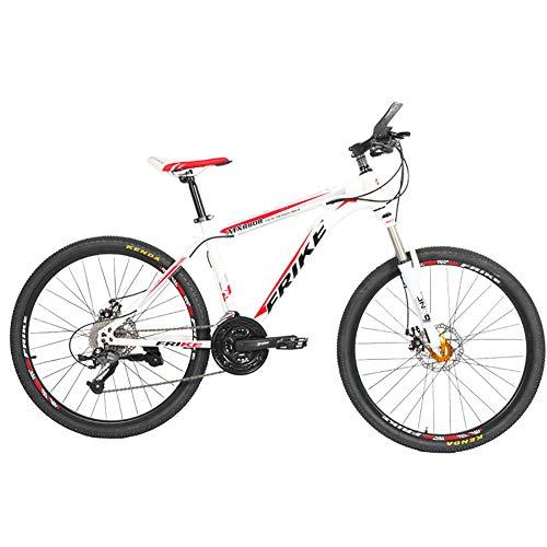 AI-QX Bici Bicicletta MTB Mountain Bike 26' Pollici Full Susp Biammortizzata, Doppio Ammortizzatore, 30V, Telaio Alluminio, Freni a Disco,C