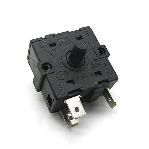 QINGRUI Zubehörwerkzeuge 1PC Drehschalter 16A 250V AC for Elektroheizung Radiator Ersatzteile Zubehör Stabile Leistung