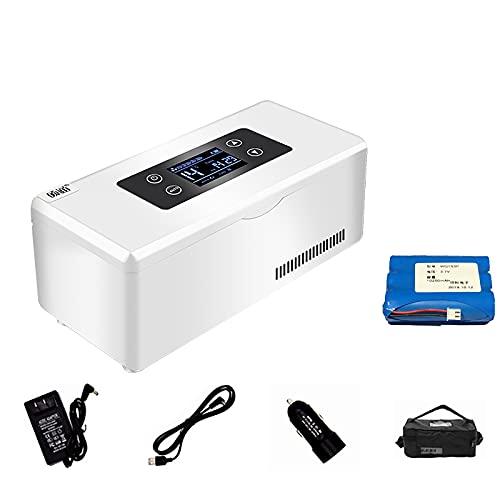 J+N Tragbare Insulin Kühlbox für Medikamente Mini Intelligente Elektrische Mini Kühlschrank Kühltasche Thermostat USB Geeignet FüR Reisen/Interferon/Lagerung Von Arzneimitteln