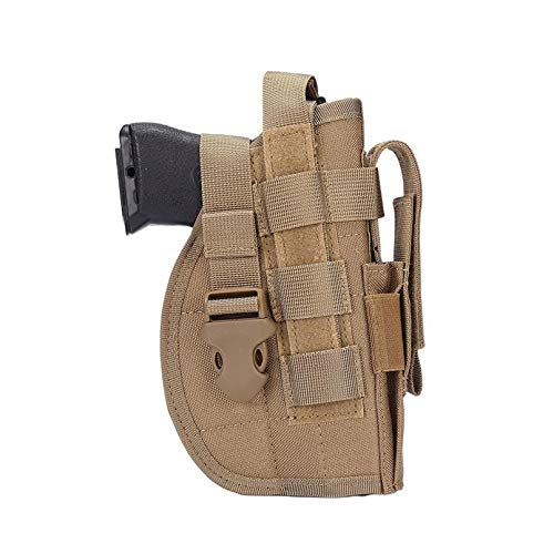 N \ A Pistola táctica, Funda Molle con Funda para Cargador, Funda Universal Ajustable para Pistola, Funda para Pistola Molle, Funda para Pistola para diestros de 9 mm