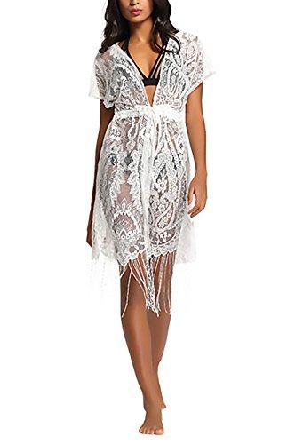 Adelina Cardigan Dames zomer elegant kant mok kimono vooraan open korte mouwen boho vintage hippie casual feestelijke kleding meisjes lang cardigans tuniek strand bikini cover up