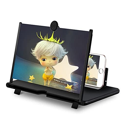 DCUKPST Ultra HD 16'' Bildschirmlupe Vergrößerungsglas, 3D Telefon Bildschirm Vergrößerungs, Handylupe Bildschirm Vergrösserung für Alle Smartphones
