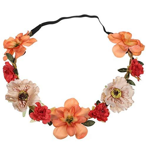 Xmiral Damen Haarband Mode Simulation Blume Hochzeit Girlande Haar Kopf für Frauen Baby Kinder...
