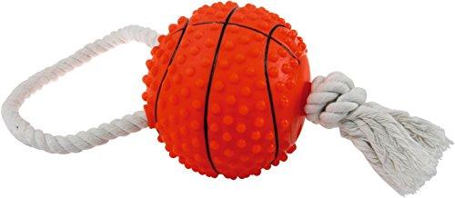 Zolux Jouet Vinyle Balle de Basket avec Corde pour Chien 11 cm