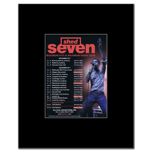 Music Ad World SHED SEVEN - UK Tour 2011 Mini Poster - 13.5x10cm