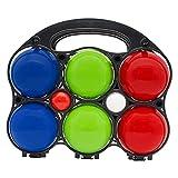 GICO Boccia Spiel aus Holz, vollfarben lackiert mit 6 Kugeln, Durchmesser 7 cm - 3012
