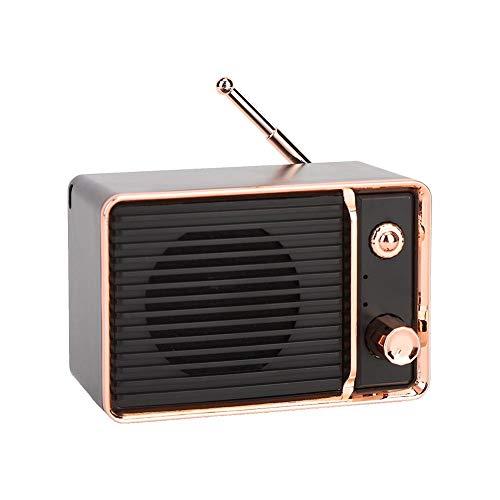 Mini Altoparlante Vintage retrò Wireless per Bluetooth 5.0, Mini Altoparlante Musicale Portatile Universale per telefoni, Altoparlanti Bluetooth Portatili Supporto Funzione (3)
