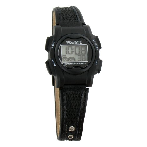 VibraLITE Mini 12-Alarm Vibrating Watch - Black