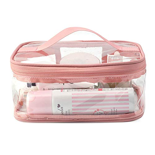 YOUYUANF Transparent Cosmetic Bag Ins Wind Portable Female Large-Capacity Cosmetic Storage Bag Waterproof PVC Travel Wash Bag Custom