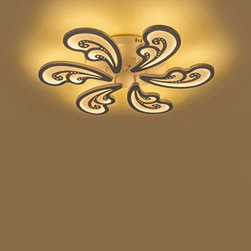 Lámpara de techo LED, 6 brazos, moderna lámpara de metal de placa acrílica, lámpara de modelado geométrico, diseño para casa, salón, cocina, dormitorio, salón, pasillo