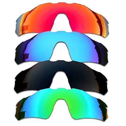 SOODASE Para Oakley Radar EV Path Gafas de sol Rojo/Azul/Negro/Verde Lentes de repuesto polarizadas