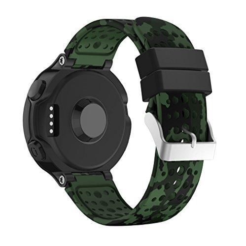 Supore Forerunner 235 Correa Reemplazo Suave Silicona Watch Band Deportiva Accessorios de Reloj Pulsera Ajustable con Cierre de Clip para Garmin Forerunner 235/220 / 230/620 / 630/735 Smart Wa