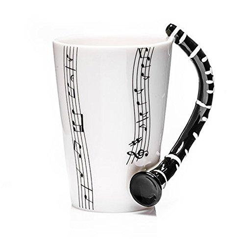 Taza de cerámica smaltata music mug clarinetto. 00008