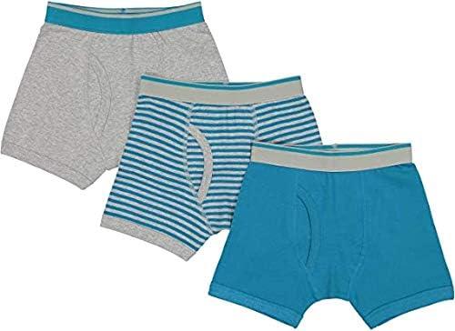 Baby Jay Teal Tagless Cotton Boys Briefs 3 Pack Ultra Soft Boys Underwear