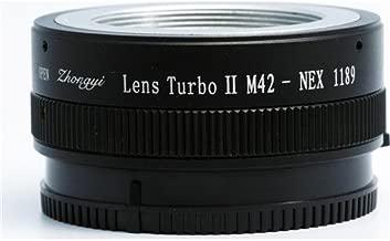 Zhongyi M42-NEX Lens Turbo Adapter II Mark 2 M42 Screw Mount for Sony NEX Camera (Black)