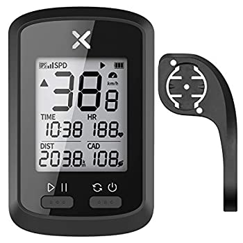 XOSS G+ GPS Bike Computer with Bicycle Mount Bluetooth ANT+ Cycling Computer Wireless Bicycle Speedometer Odometer Waterproof MTB Tracker  Support Heart Rate Monitor & Cadence Sensor