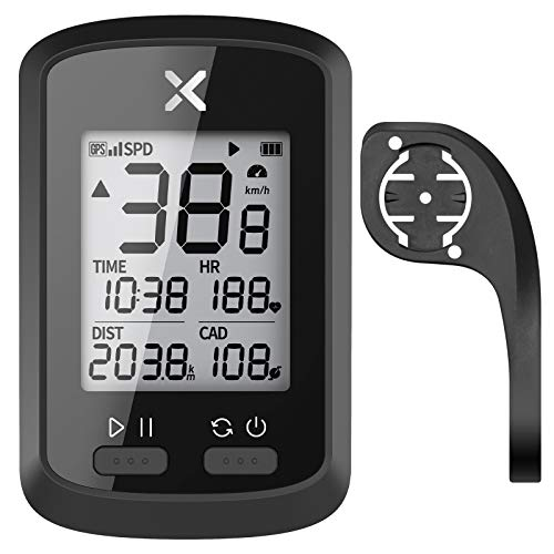 XOSS G+ GPS Bike Computer with Bicycle Mount, Bluetooth ANT+ Cycling Computer, Wireless Bicycle Speedometer Odometer, Waterproof MTB Tracker (Support Heart Rate Monitor & Cadence Sensor)