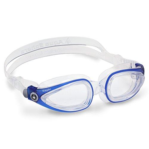 Aqua Sphere Eagle, Occhialini da Nuoto Unisex Adulto, Vetro Trasparente Blu, Taglia Unica