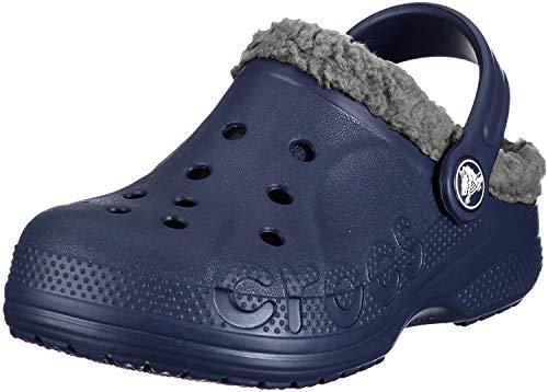 Crocs Unisex-Kinder Baya Lined Kids Clogs, Blau (Navy/Smoke), 24/26 EU