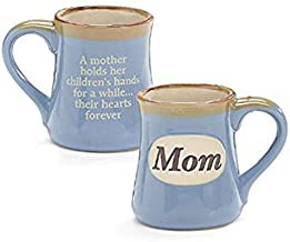 Mom Porcelain Blue Coffee Tea Mug Cup 18oz Gift Box Holds Childs Hands.Hearts