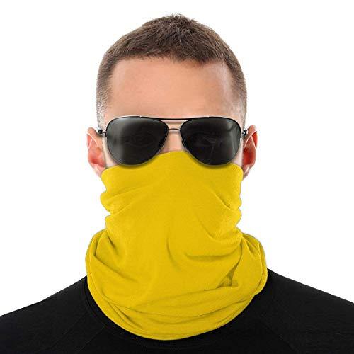 WH-CLA Face Scarf Color Amarillo Dorado Claro Festivales Sin Costuras Protección Solar Impresa Sombreros Antipolvo Al Aire Libre Envoltura para La Cabeza Mujeres Pañuelos Multifuncionale