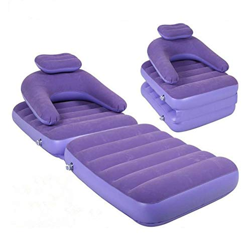 favourall - Tumbona hinchable de aire con cama plegable suave para salón, patio trasero, camping