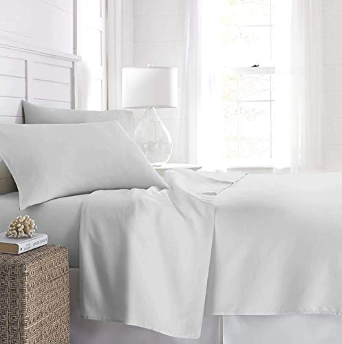 Beckham Hotel Collection Fitted Sheet (2-Pack) - Soft-Brushed Microfiber with Deep Pocket - King - White