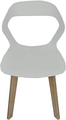 n//c JIASEN Set di 4 Sedia da Pranzo Traforata Sedia da Schienale in Plastica Semplice e Moderna in Stile Nordico per Sala da Pranzo Soggiorno Cucina e Ufficio Bianca