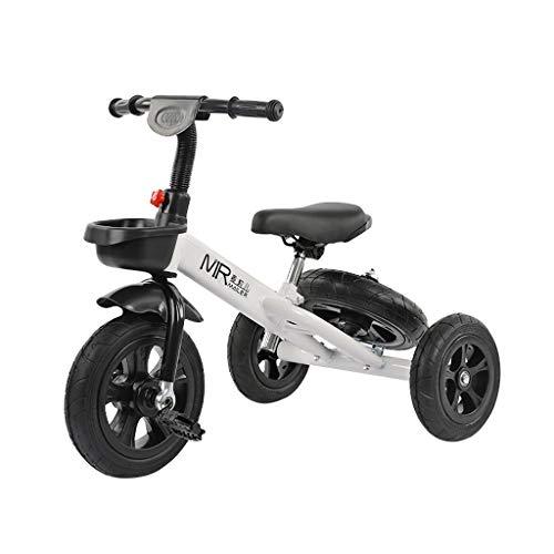 GYF Obtén el equilibrio de los niños ligero del bebé de los niños Balance Auto Portátil Triciclo Niños Ligero 3 para vehículos con ruedas Cochecito de 1-2-6 años disponible dos colores