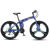 21/24/27 Velocidades con Freno De Disco Doble SuspensióN Completa 24/26 Pulgadas Bicicleta MontañA Plegable para Hombres Mujeres Adultos Bicicletas Plegables PortáTiles Trek