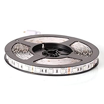 econoLED 12V Flexible SMD 5050 RGB LED Strip Lights LED Tape Multi-Colors 300 LEDs Non-Waterproof Light Strips Color Changing Pack of 16.4ft/5m Strips
