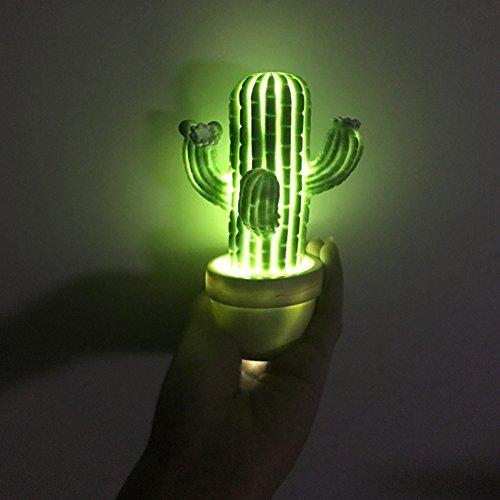 YSHtanj Lampe im Kaktus-Stil, Dekorationslicht, Geburtstagsgeschenk, Mode, kreatives LED-Licht, Kaktus-Stil, Nachtlicht, Lampe für Schlafzimmer, Heimdekoration, Geschenk – Grün