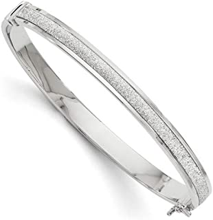 14k White Gold Glimmer Infused Hinged Bangle Bracelet Cuff Expandable Stackable Fine Jewelry Gifts For Women For Her