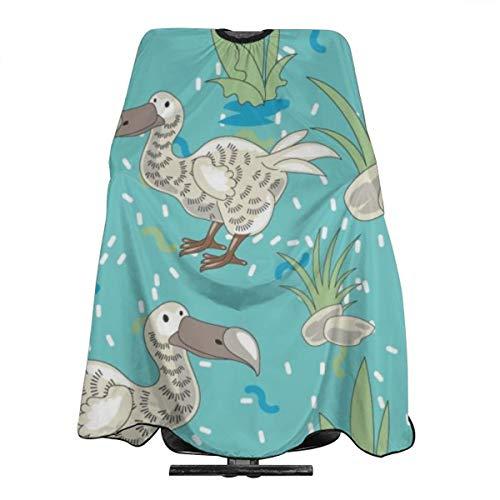 Dodo Tablier de coiffure imperméable Motif oiseau de dessin animé Sans coutures Pour homme et femme Taille adulte 140 x 168 cm