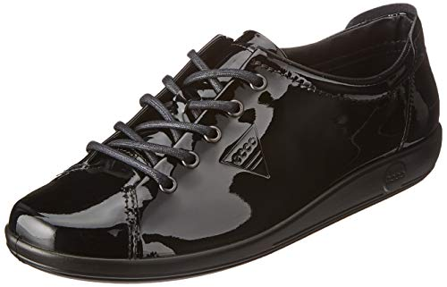 ECCO Soft 2.0, Scarpe Stringate Derby Donna, Nero (Black 11001), 35 EU
