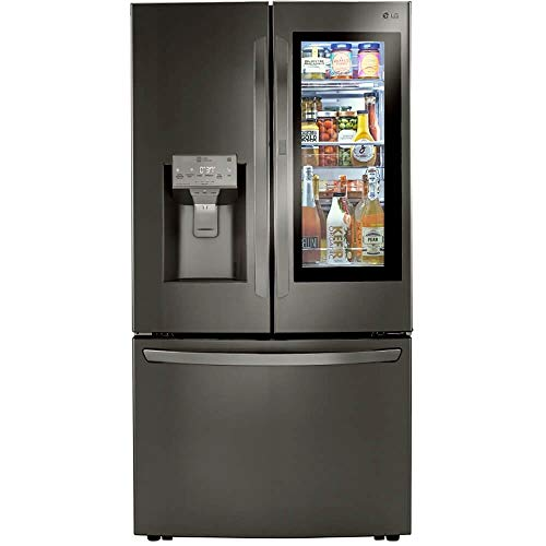 LG LRFVS3006D 30 Cu.Ft. Black Stainless Smart French Door Refrigerator