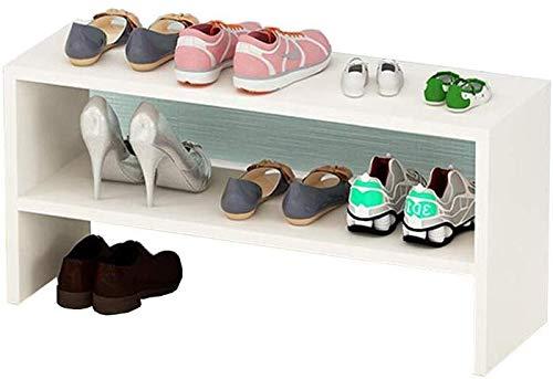 Xiejia Eenvoudige massief houten schoenenkast Home Living Room Multi-layer schoenenkast Slaapkamer Multifunctioneel rackingrek Rack (Kleur: Licht Walnoot)