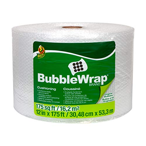 "Duck Brand Bubble Wrap Roll, Original Bubble Cushioning, 12"" x 175"