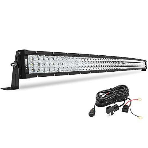 LED Light Bar Curved OEDRO 52Inch 1337W Tri-Row LED Light Pod Spot Light Work light with Wiring Harness for Off Road Lights Led Fog Light Truck Light Boat Lighting for Truck Pickup Jeep SUV ATV UTV