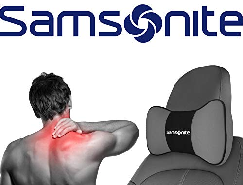 Samsonite SA5249 \ Travel Pillow for Car, SUV \ Helps Relieve Neck Pain & Improve Circulation \100% Pure Memory Foam \ Fits Most Vehicles