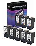 Speedy Inks Remanufactured Ink Cartridge Replacement for Lexmark 32 & Lexmark 33 (5 Black, 3 Color, 8-Pack)