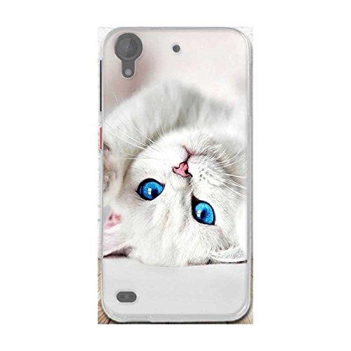 HTC Desire 630 Hülle,Desire 530 Hülle,Gift_Source [Weiße Katze] Ultra Dünn Schlank Silikon Bumper Soft TPU Schutzhülle Hülle Weiche Stoßfest Rutschfest Slim Gummi Handyhülle für HTC Desire 630/530 5.0