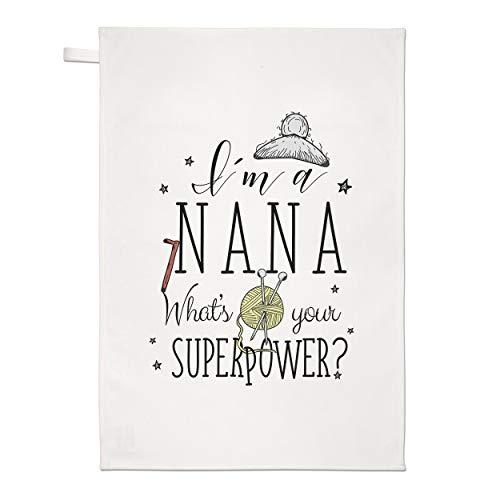 Gift Base I'M A Nana ce qui Est Your Superpower Torchon Chiffon de Vaisselle
