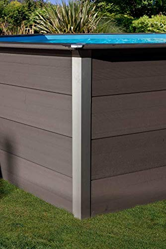 Piscina desmontable GRE de composite rectangular altura 124 cm KPCOR60