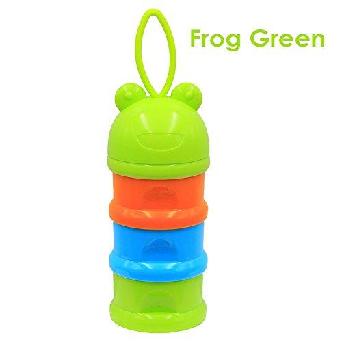 Miyanuby Babyflaschenboxen Milchpulver Portabler Behälter für Lebensmittel, Non-Spill Stackable Travel Storage Flasche, 3 Fächer