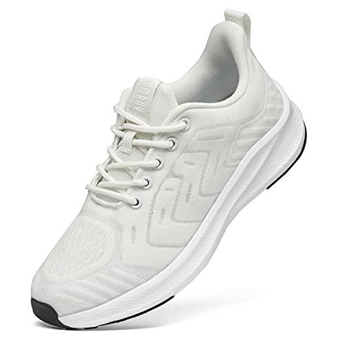 black friday scarpe Donna Scarpe da Running Sportive Uomo Corsa Sneakers Ginnastica Outdoor Sport Running Fitness Sneakers Blanc 38