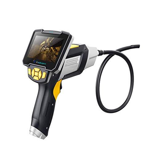 WUAZ Industrielles Endoskop, 4,3 Zoll 1080P HD wasserdichte Nachtsicht-Klimaanlagen-Endoskop-Handkamera, 6 einstellbare LED-Leuchten,10M