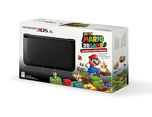 Black Nintendo 3DS XL with (Pre-installed) Super Mario 3D Land Game [video game]